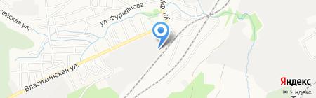 А Тавио на карте Барнаула