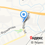 Генеральские бани на карте Барнаула