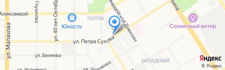 Железный Мастер на карте Барнаула