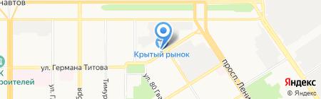 Крендель на карте Барнаула