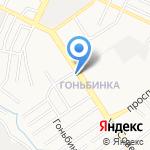 Почтовое отделение №16 на карте Барнаула