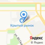 Киоск по продаже лотерейных билетов на карте Барнаула