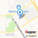 Алтайская общеобразовательная школа №1 на карте Барнаула