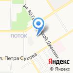 Аварийная газовая служба (природный газ) на карте Барнаула