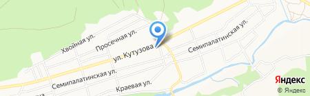 Баня на Кутузова на карте Барнаула