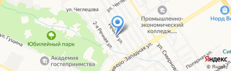 Rainbow stone на карте Барнаула
