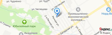 Церковь Христиан Адвентистов Седьмого Дня на карте Барнаула