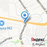 Средняя общеобразовательная школа №10 на карте Барнаула