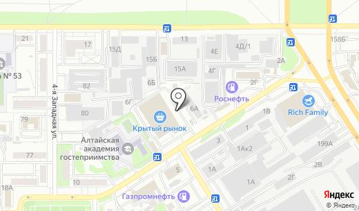 Киоск по продаже рыбы. Схема проезда в Барнауле
