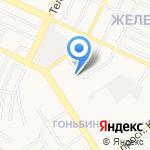 Батэрс на карте Барнаула