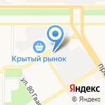 Сибирский успех-Алтай на карте Барнаула