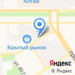 Юнишина на карте Барнаула