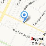 Мясной Дворъ на карте Барнаула