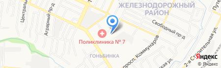Средняя общеобразовательная школа №60 на карте Барнаула