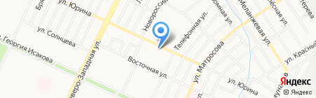 Эдель на карте Барнаула