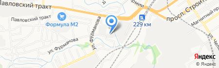 Эгида на карте Барнаула