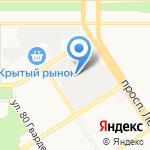 Автодело на карте Барнаула