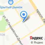 Автомойка на карте Барнаула