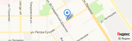 Алтайские носки на карте Барнаула
