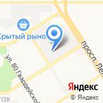 Вариант-Мебель на карте Барнаула