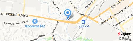Автоальянс-Сервис на карте Барнаула