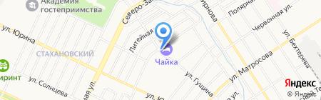 Александр Невский на карте Барнаула