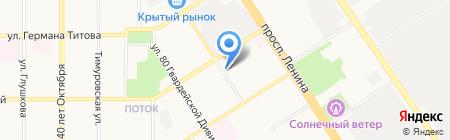 Квартирка на карте Барнаула