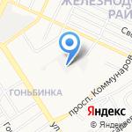 Сибикон на карте Барнаула