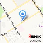 Вектор-Тур на карте Барнаула
