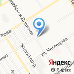 Магазин хозяйственных товаров на карте Барнаула