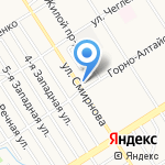 Интэком на карте Барнаула