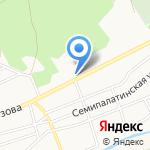 Борец на карте Барнаула