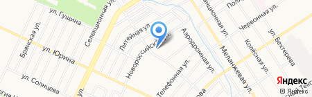 Отдыхалов на карте Барнаула