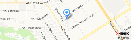 МегаПак на карте Барнаула