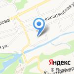 Риола на карте Барнаула