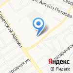 Трамвайное депо №1 на карте Барнаула