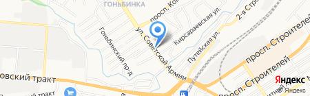 Бригантина на карте Барнаула