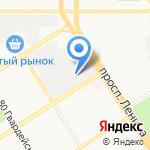 БИП на карте Барнаула