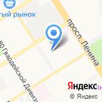 Западное на карте Барнаула