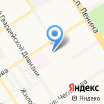 Средняя общеобразовательная школа №38 с углубленным изучением отдельных предметов на карте Барнаула