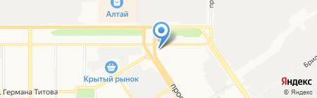 Яшма на карте Барнаула
