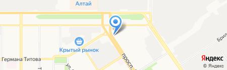 Феррон на карте Барнаула
