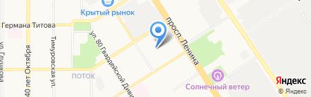 Детский сад №204 на карте Барнаула