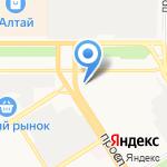 Ритуальный зал на карте Барнаула