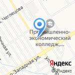 Магазин нижнего белья и женской одежды на карте Барнаула