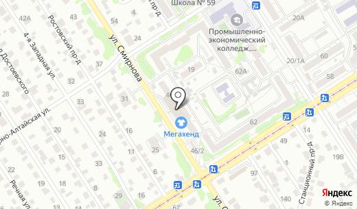 17 соток. Схема проезда в Барнауле