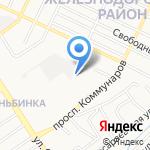 АлтайСвязьСервис на карте Барнаула