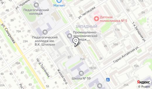 Мастер. Схема проезда в Барнауле