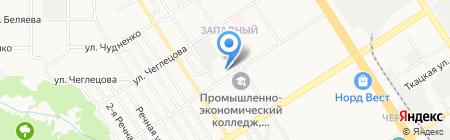Средняя общеобразовательная школа №59 на карте Барнаула