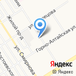 Корсар на карте Барнаула
